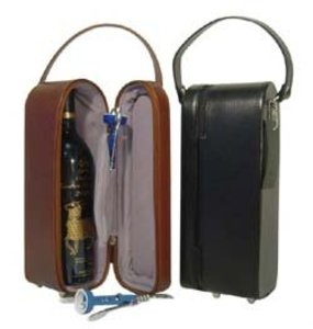 Leather Single Wine Tote Bag