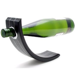 Gravity Leather Wine Bottle Holder