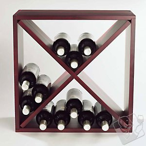 24 Bottle Compact Wine  Mahogany