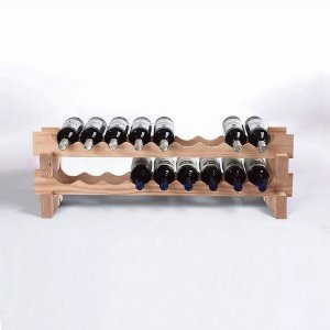 18 Bottle Stackable Wine  Natural