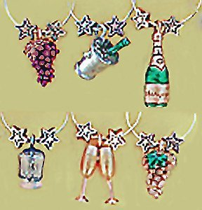 Celebrate Painted Wine Glass Charms