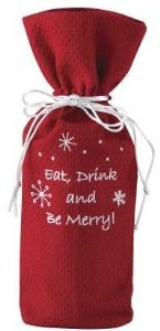 Eat Drink Merry Wine Bag