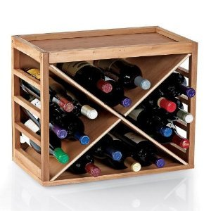 Bottle Cube Stack Wine  Natural Finish